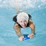 healthy swimming exercise in chlorine free pool