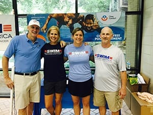 Clear Comfort with SAA Dallas organizers and former olympic simmer Jim Montgomery