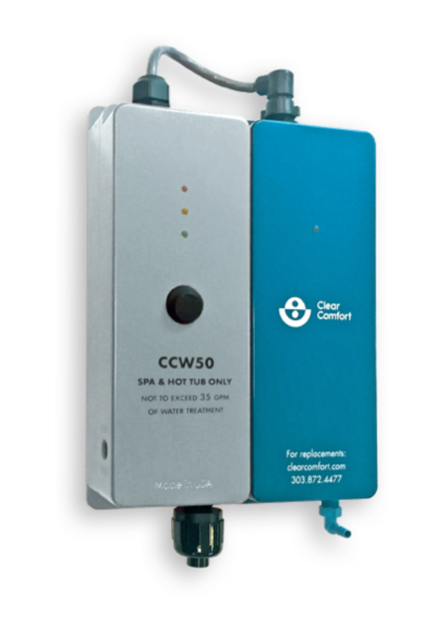 CCW50 spa sanitation treatment system | Clear Comfort commercial pool spa sanitation treatment system